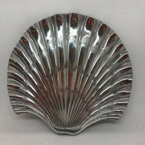 Fitz & Floyd Metal Seashell Serving Platter